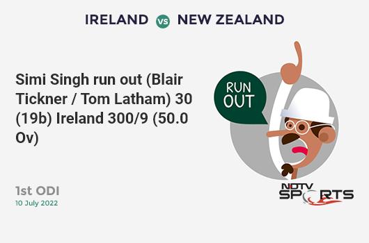 IND vs AFG: Match 28: WICKET! Kedar Jadhav c sub b Gulbadin Naib 52 (68b, 3x4, 1x6). भारत 223/8 (49.5 Ov). CRR: 4.47