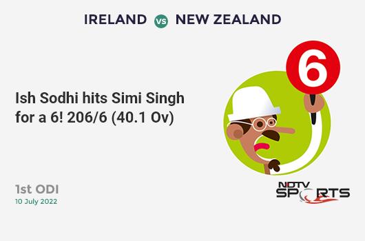 WI vs NZ: Match 29: It's a SIX! Carlos Brathwaite hits Matt Henry. West Indies 279/9 (47.4 Ov). Target: 292; RRR: 5.57