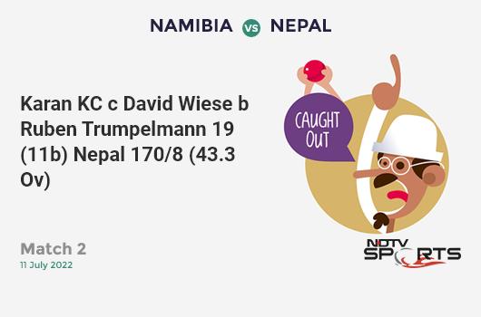 ENG vs AUS: Match 32: Ben Stokes hits Pat Cummins for a 4! England 156/5 (34.0 Ov). Target: 286; RRR: 8.12
