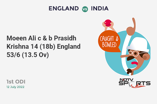 WI vs IND: Match 34: FIFTY! Virat Kohli completes 50 (55b, 6x4, 0x6). भारत 133/3 (27.3 Ovs). CRR: 4.83
