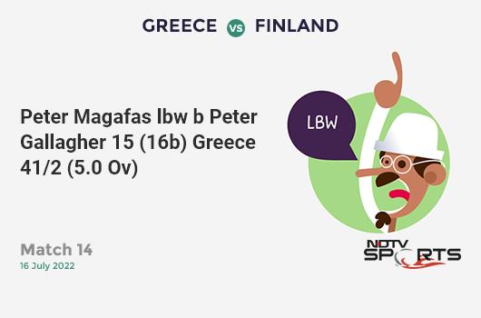 SL vs IND: Match 44: WICKET! Kusal Mendis st MS Dhoni b Ravindra Jadeja 3 (13b, 0x4, 0x6). श्रीलंका 53/3 (10.4 Ov). CRR: 4.96