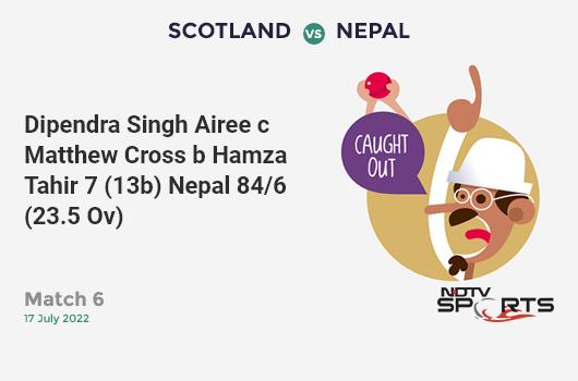 AUS vs ENG: 2nd Semi Final: Jonny Bairstow hits Nathan Lyon for a 4! England 76/0 (12.4 Ov). Target: 224; RRR: 3.96