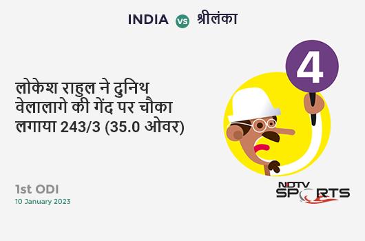 IND vs WI: 3rd ODI: KL Rahul hits Jason Holder for a 4! India 36/0 (5.5 Ov). Target: 316; RRR: 6.34